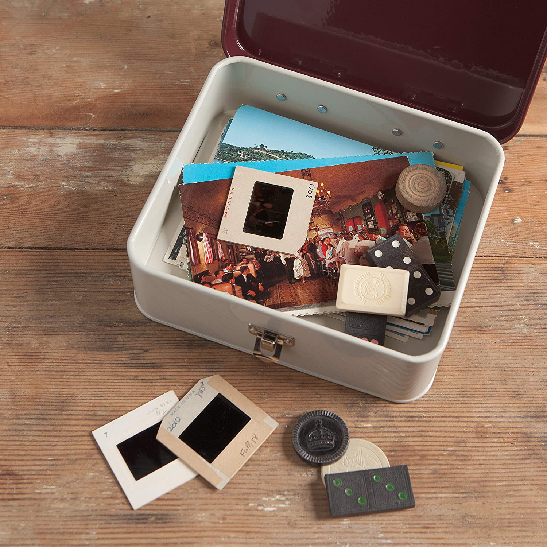 Interior of keepsake box