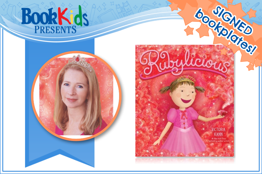 Victoria Kann virtual event banner contains author photo and Rubylicious book cover image