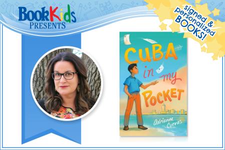 Adrianna Cuevas Event Banner contains author photos and book cover