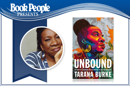 Tarana Burke event graphic with author photo and book cover image