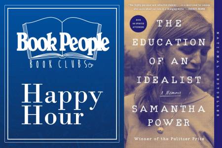 Happy Hour Book Club and Book cover of The Education of an Idealist book cover image