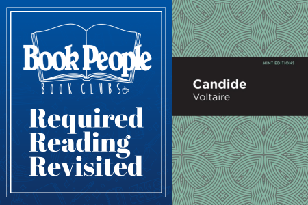Required Reading Club with book cover of Candide Image