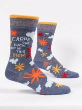 Carpe The Fuck Out Of This Diem Socks Men's Crew Fit