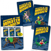 Monster Women Notebook Set