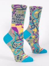 I Love My Asshole Kids Socks Women's Crew Fit
