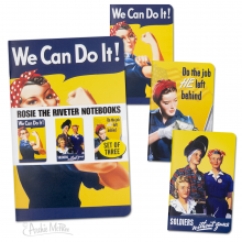 Rosie the Riveter Notebook Set of 3