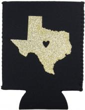 Texas Drink Local Koozie front
