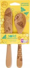 Honeybee Wooden Jam Spoon & Spreader Set