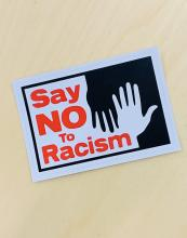Say No to Racism Bumper Sticker
