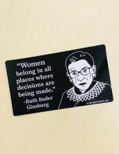 RBG Women Belong Bumper Sticker