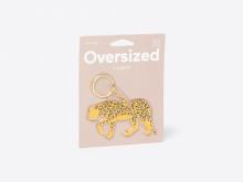 Oversized Leopard Keychain