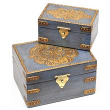 Blue Box with Metal Accents [Assorted Sizes]