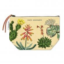 Cacti & Succulents Canvas Zipper Pouch