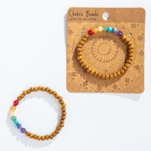 Chakra Stone & Wood Bracelet
