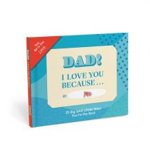 Dad I Love You Because... Fill in the Blank Book