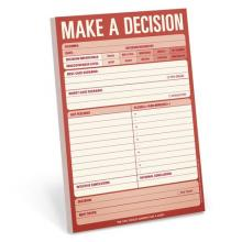 Make a Decision Large Notepad