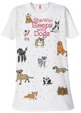 Sleeps With Dogs Sleep Shirt