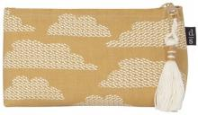 Flight of Fancy Yellow Clouds Cosmetic Pouch