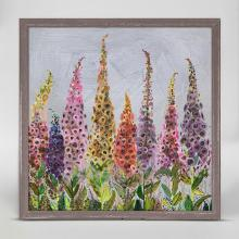Foxgloves Framed Canvas