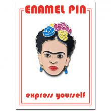 Artist Frida Kahlo Portrait Enamel Pin