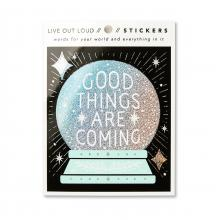 Good Things Are Coming Crystal Ball Sticker