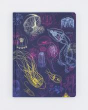 Jellyfish Hardcover Notebook (front)