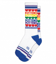 Rainbow Kittens & Hearts Gym Socks