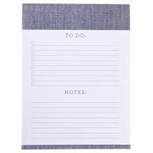 Blue Linen Large Notepad