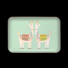 Llamas Metal Trinket Tray