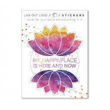 My Happy Place Lotus Sticker