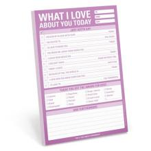 What I Love About You Today Large Notepad