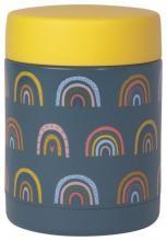 Rainbows on Blue Insulated Food Jar