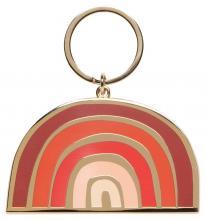 Solstice Rainbow Enamel Keychain