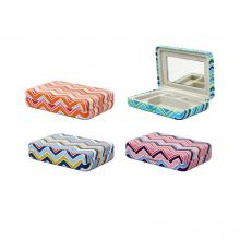 Portable Striped Jewelry Case (4 color options)