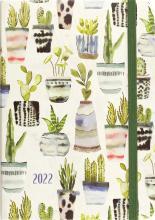 2022 Watercolor Succulents 16-Month Planner