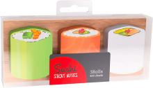 3 Designs: Cucumber, salmon, and rice wrapped sushi rolls