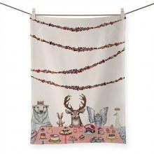 Sweets Soiree with Woodland Animals Tea Towel
