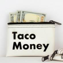 Taco Money Zipper Pouch