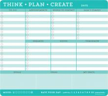 Think Plan Create Notepad Mousepad