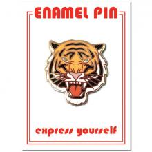 Tiger Face Enamel Pin