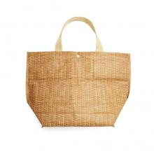 Large Wicker Insulated Tote Bag