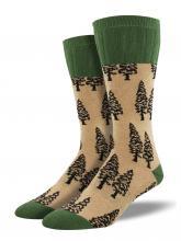 Brown Trees Socks