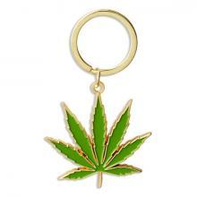 Pot Leaf Marijuana Keychain