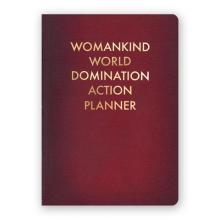 Womankind World Domination Action Planner Journal Medium Size