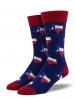 Texas Socks Men's Crew Fit
