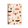 Moths on Pink Spiral Notebook