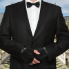 Formal Handerpants worn with a tuxedo