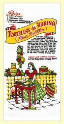 Tortillas Flour Sack Dishtowel