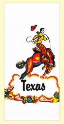 Texas Cowboy Dishtowel