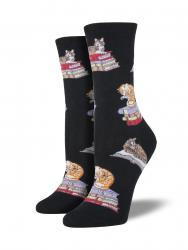 Cats On Books Socks
